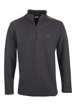 Half Zip Sweater with Elbow Patch - Mens Thumbnail
