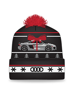 "<b style=""color:#ff0000"">LIMITED</b><br />Audi Holiday Knit Hat - 2017 Thumbnail"