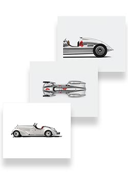 Audi Heritage Canvas Art Set Thumbnail