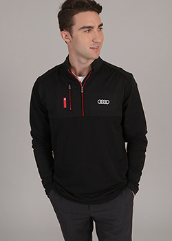 Adidas Mixed Media Quarter Zip - Men's Thumbnail