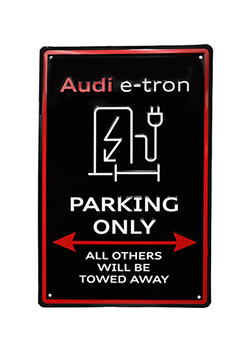 Audi e-tron Parking Only Sign Thumbnail