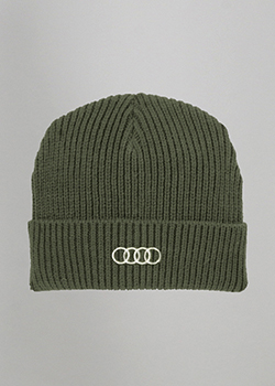 Olive Ribbed Beanie Thumbnail