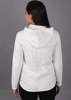 Asymmetric Double Knit Jacket - Ladies