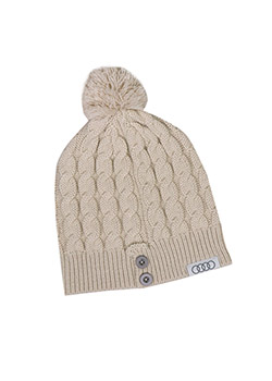 Cream Knit Beanie Thumbnail