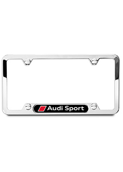 Audi Sport License Plate Frame - Polished Thumbnail