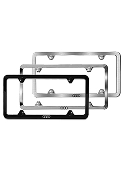 Slimline License Plate Frame - Audi Rings Thumbnail