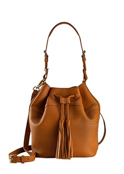Jenn Leather Bucket Bag