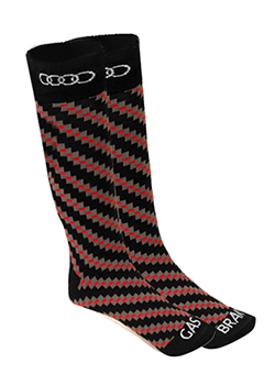Carbon Fiber Print Socks