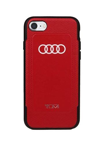 TUMI Red Leather Case for iPhone 7/Plus Image