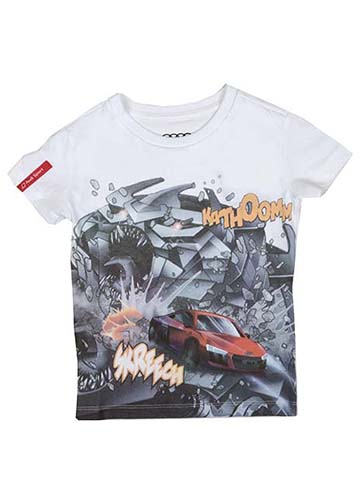 Audi Sport Comic Print T-Shirt - Youth Image