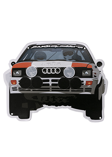 Audi quattro Rally Car Metal Sign Image