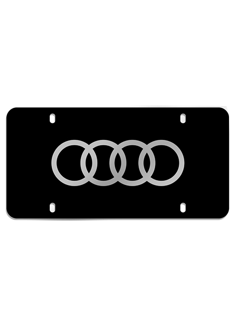 Laser-etched Audi Rings vanity plate Image