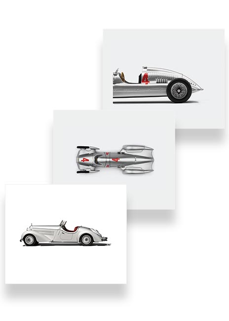 Audi Heritage Canvas Art Set Image