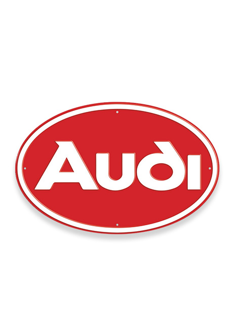 Audi Oval Metal Sign Image
