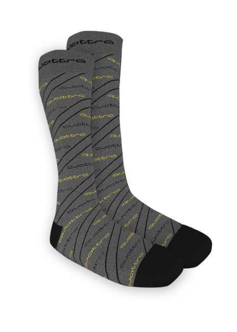 quattro Asymmetric Stripe Socks